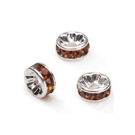 Metalni delovi sa cirkonima 8 mm topaz