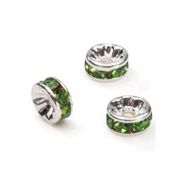 Metalni delovi sa cirkonima 8 mm  sv zelena