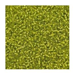 Venecija 111/0 (2.1 mm) svetlo zelena srebrna linija