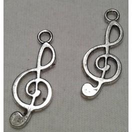 Metalni privesci mali  violinski kljuc inox