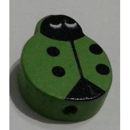 Drvena perla buba mara 20 mm zelena