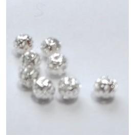 Filigranske lopte 4 mm boja srebra