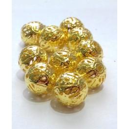 Filigranske lopte 10 mm boja zlata