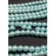 Staklene biserne perle 8 mm plava niska 90 cm