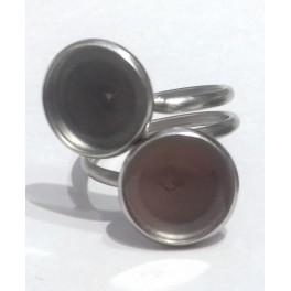 316 Nerdjajući čelik prsten+podloga 12 mm