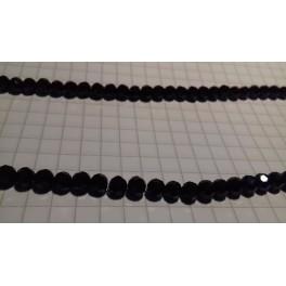 Kineski kristal lopta 4 mm crna-niska 40 cm