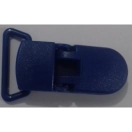 Klipsa za lanac za cucle silikonska 35 mm- teget